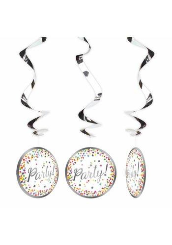 Confetti swirl deco - 3 stuks