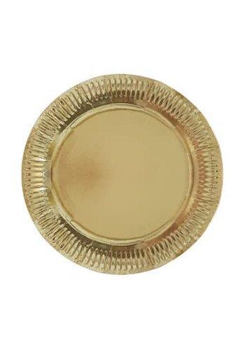 Sparkling Gold bordjes 23cm - 8 stuks