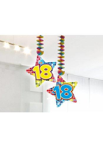 Blocks hangdeco 18 - 2 stuks