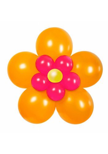 "Balloon Kit ""Bloem"" Oranje/Roze"