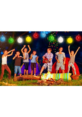 LED ballonslinger multicolor - 4 meter