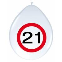 "Ballonnen ""21"" Verkeersbord - 30cm - 8 stuks"