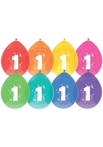 Ballonnen 1 - 30cm - 8 stuks