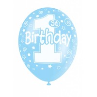 Ballonnen 1 Blauw - 30cm - 5 stuks