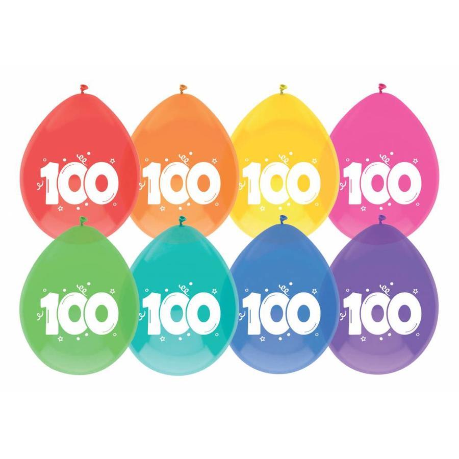 Ballonnen 100 - 30cm - 8 stuks-1