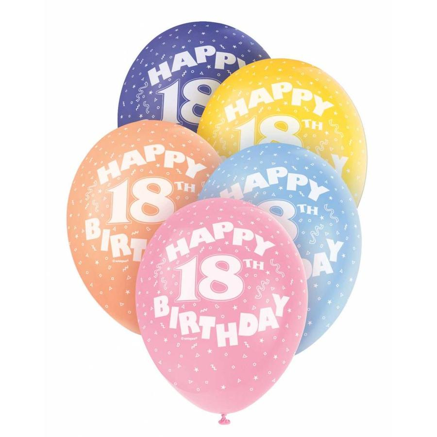 Ballonnen 18 - 30cm - 5 stuks-1