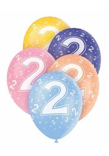 Ballonnen 2 - 30cm - 5 stuks
