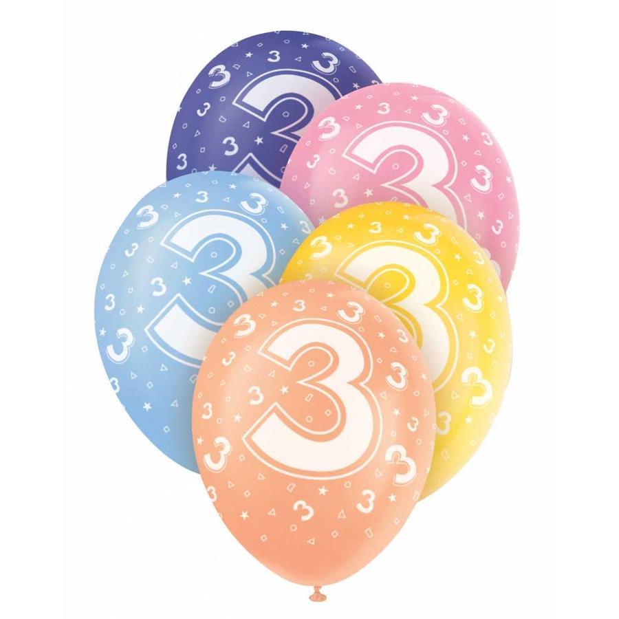 Ballonnen 3 - 30cm - 5 stuks-1