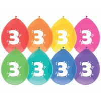 Ballonnen 3 - 30cm - 8 stuks