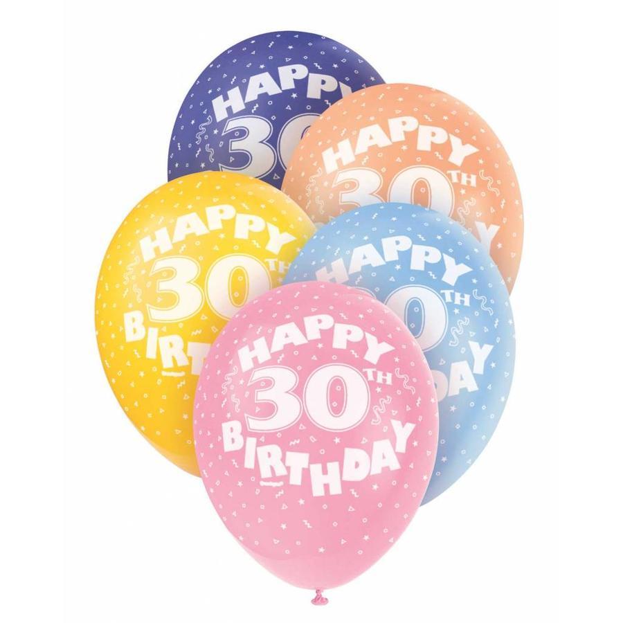 Ballonnen 30 - 30cm - 5 stuks-1
