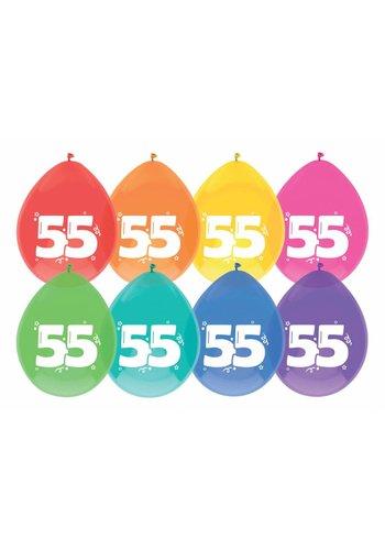 Ballonnen 55 - 30cm - 8 stuks