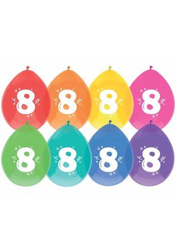 Ballonnen 8 - 30cm - 8 stuks