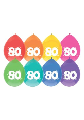Ballonnen 80 - 30cm - 8 stuks