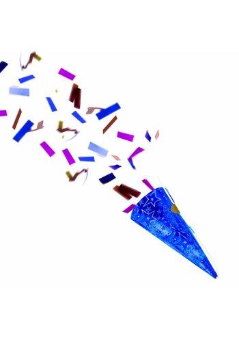 Party Popper Blauw - 4 stuks