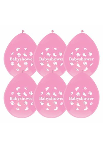 Babyshower Girl ballonnen - 6 stuks