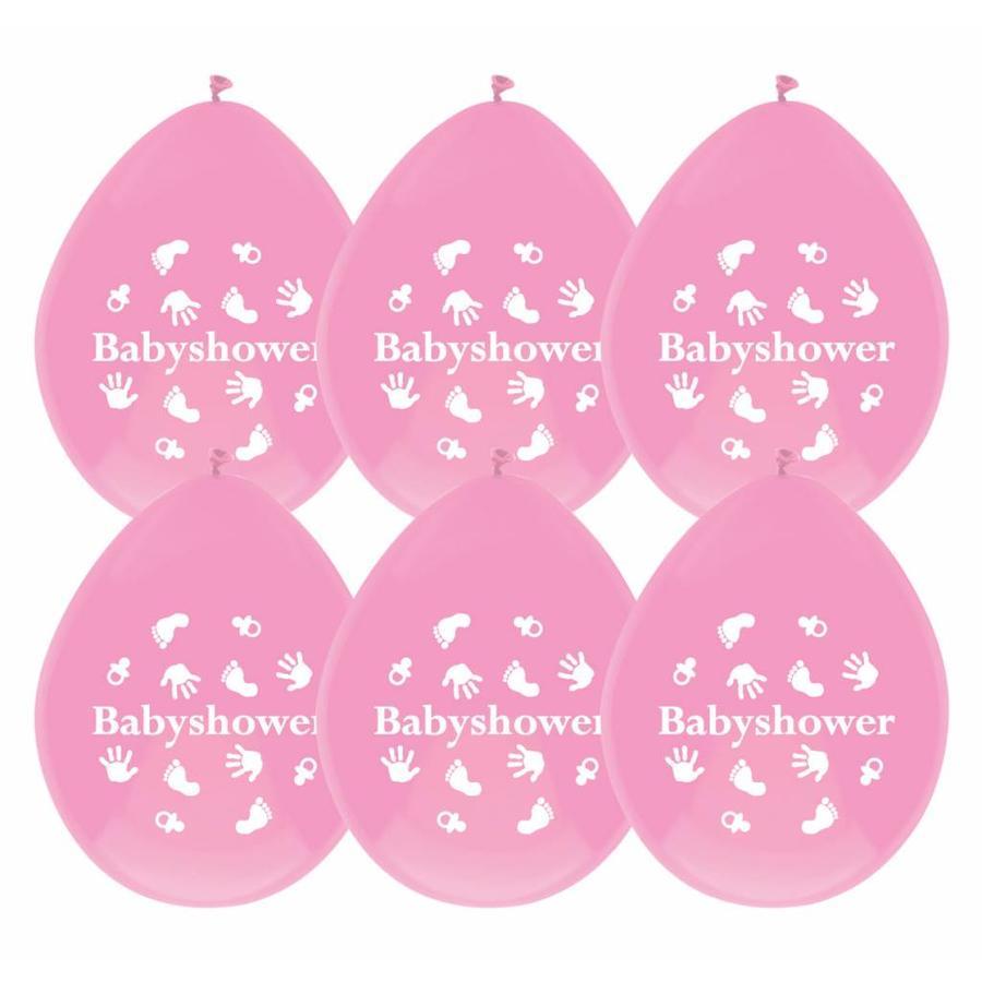 Babyshower Girl ballonnen - 6 stuks-1