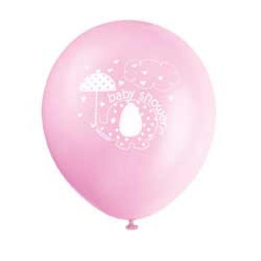 Babyshower olifantje girl ballonnen - 8 stuks-1