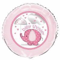 Babyshower olifantje girl folieballon