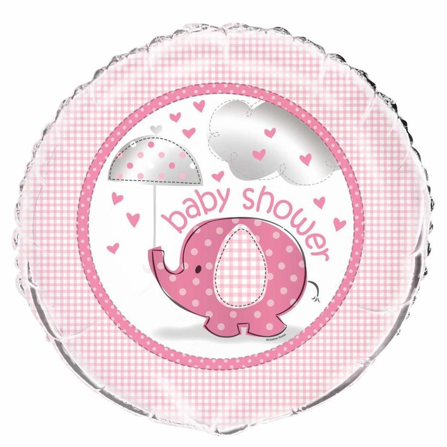 Babyshower olifantje girl folieballon-1