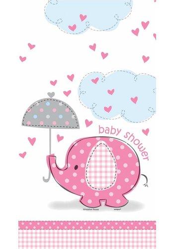 Babyshower olifantje girl tafelkleed 210x140cm