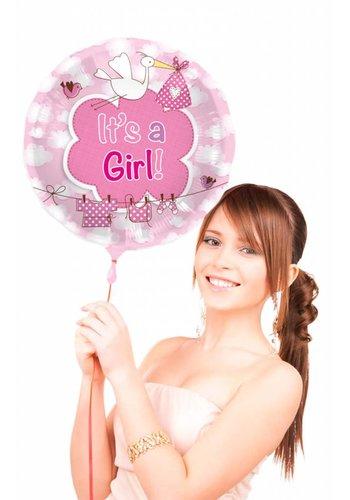 Folieballon It's a Girl - 45cm
