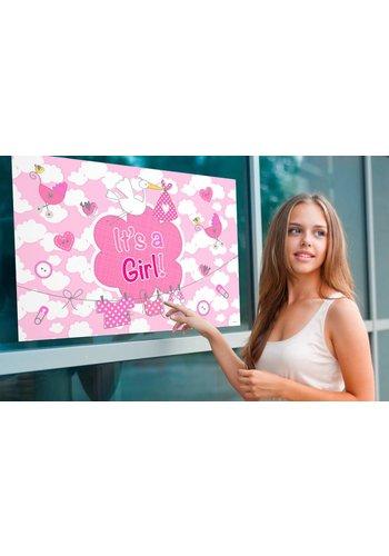 It's a Girl Vlag 60x90cm