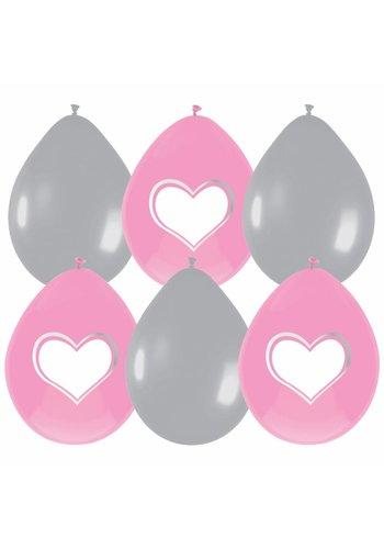 Little heart ballonnen - 6 stuks