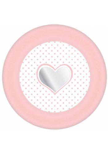 Little heart bordjes 18cm - 8 stuks