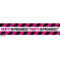 """Afzetlint """"Party in progress"""" - 15 meter"""