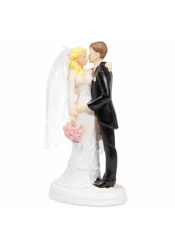 Bruidspaar Kussend koppel - 10cm