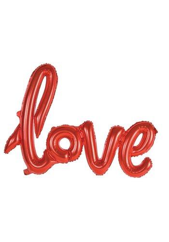 """Folieballon Kit """"LOVE"""" Rood"""