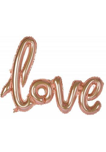 "Folieballon Kit ""LOVE"" Rosé Gold"