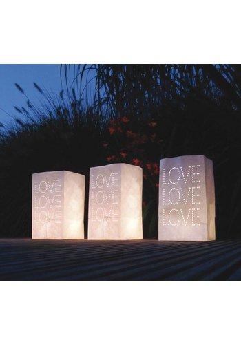 Light bag Love - 5 stuks