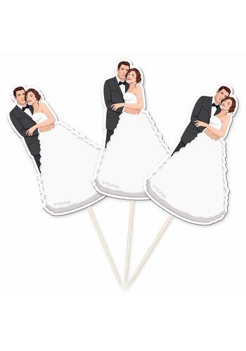 Prikkertjes bruidspaar - 10 stuks