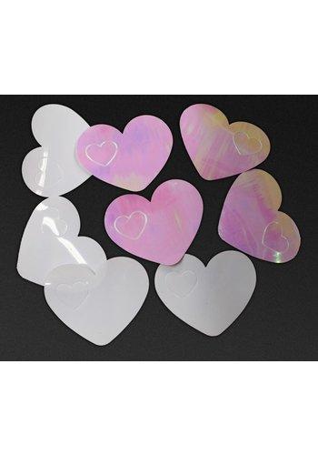 Tafelconfetti XL iridescent hartjes