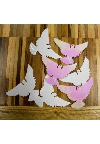 Tafelconfetti XL iridescent Love Doves