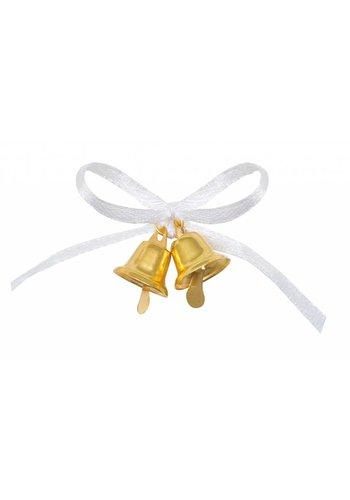 Wedding Favor - Gold bell - 12 stuks