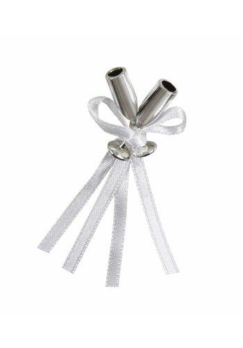 Wedding Favor - Silver flute - 12 stuks