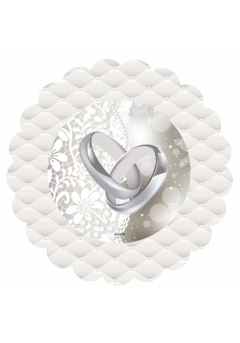 Wedding rings bordjes Just Married 18cm - 20 stuks