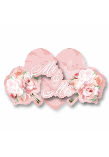 Wedding roses 3D deurbord