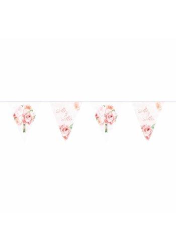 Wedding roses vlaggenlijn - 10 meter