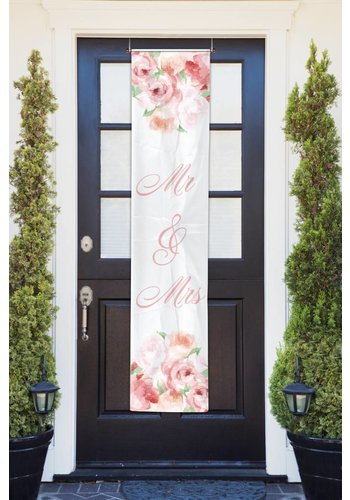 Wedding roses banner - 40x180cm