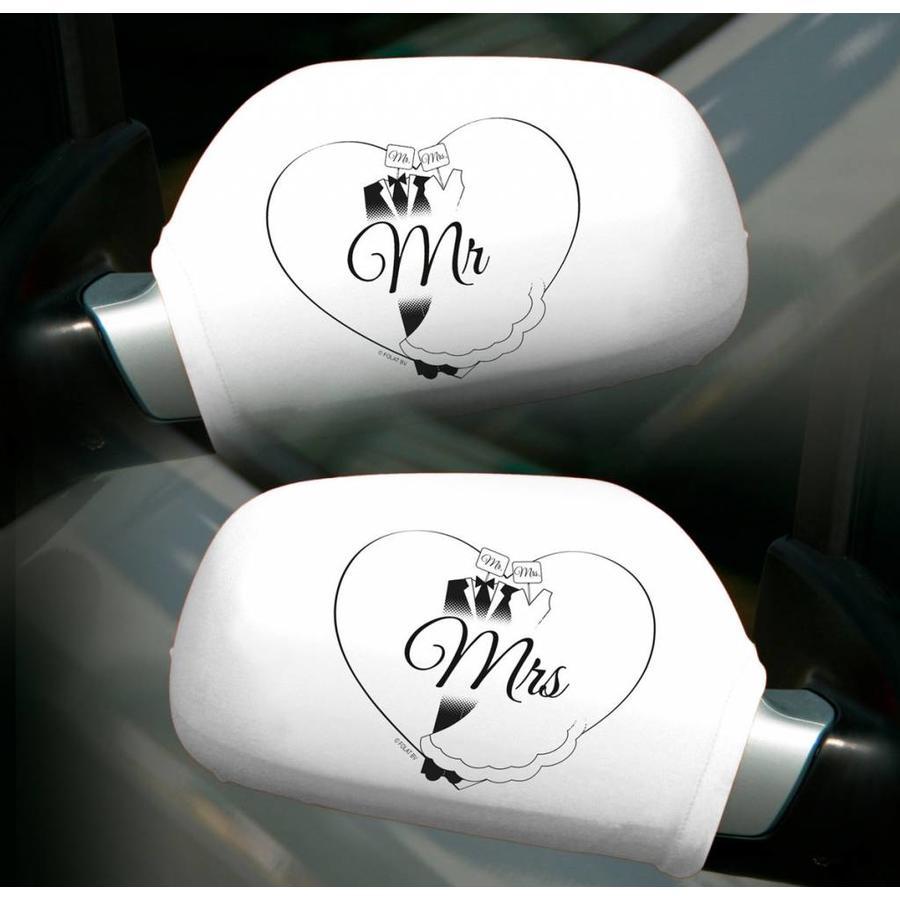 Autospiegel hoesjes Mr & Mrs - 2 stuks-1