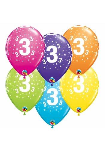 "11"" Stars A-round 3 jaar - 6 kleuren (28cm)"