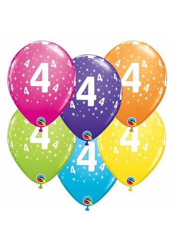 "11"" Stars A-round 4 jaar - 6 kleuren (28cm)"