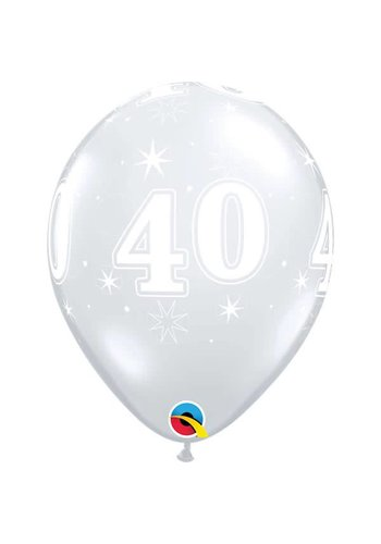 """11"""" Doorzichtig 40 jaar (28cm)"""