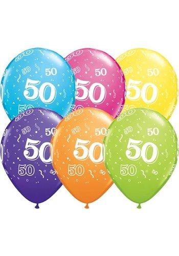 """11"""" Confetti 50 jaar - 6 kleuren (28cm)"""