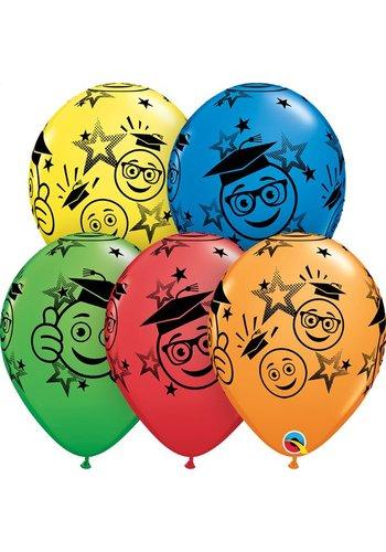 """11"""" Graduation Smileys - 5 kleuren (28cm)"""