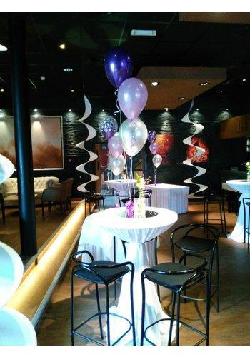 Tafeldecoratie van 3 Heliumballonnen