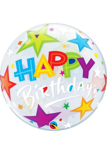 Bubble Ballon Happy Birthday - 55cm